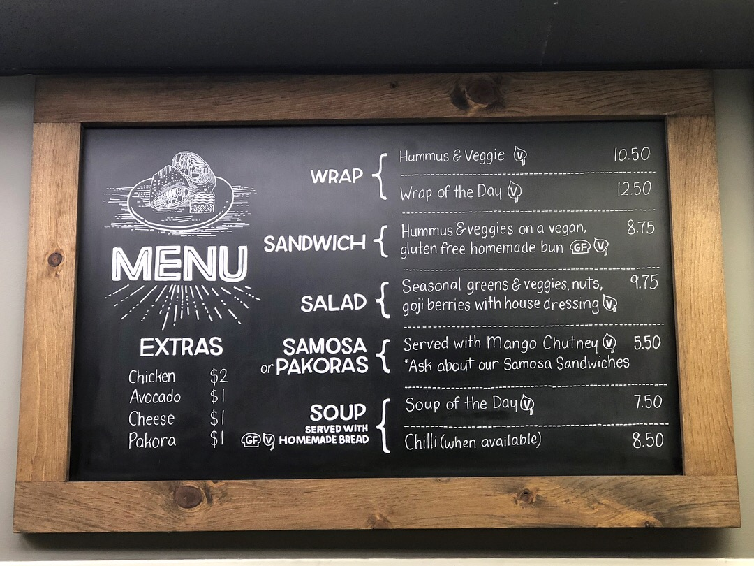 Healthy Food Menu Board