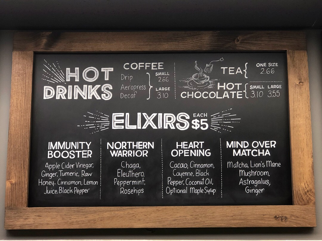 Hot Drinks Menu Board
