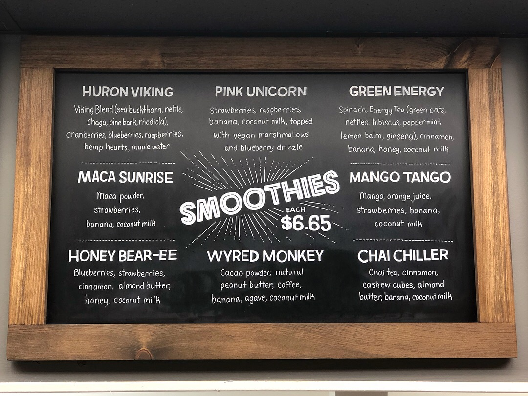 Smoothies Menu Board